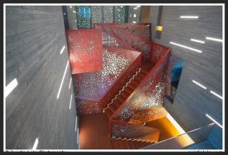 Copper staircase, Villa Mallorca